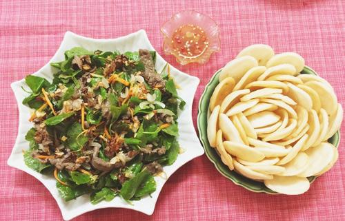 Cách làm thịt dê xào rau má