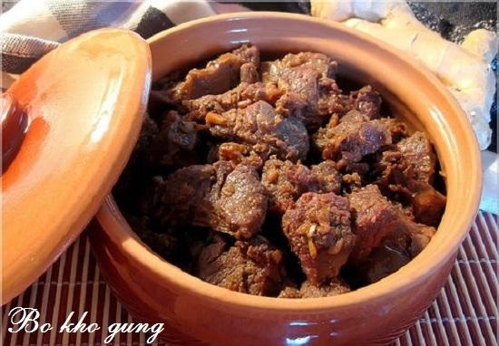 Cách nấu bò kho gừng