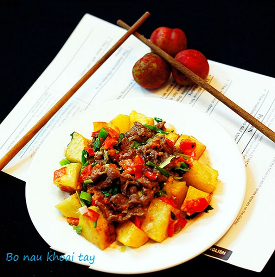 Cách nấu bò kho khoai tây