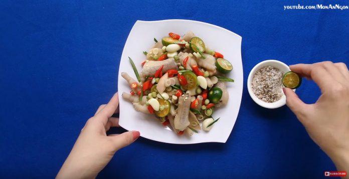Cách nấu chân gà ngâm sả tắc siêu ngon đơn giản dễ dàng tại nhà