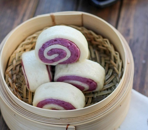 Cách làm bánh bao chay khoai lang tím đơn giản thơm ngon không gây béo