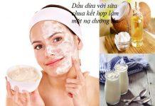 Làm mặt nạ dưỡng da với dầu dừa và sữa chua