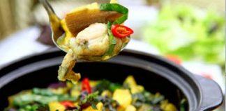 Cách nấu lẩu ếch lá giang thơm ngon [ KHÔNG BỊ TANH ]