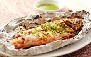 Cá lăng nướng giấy bạc