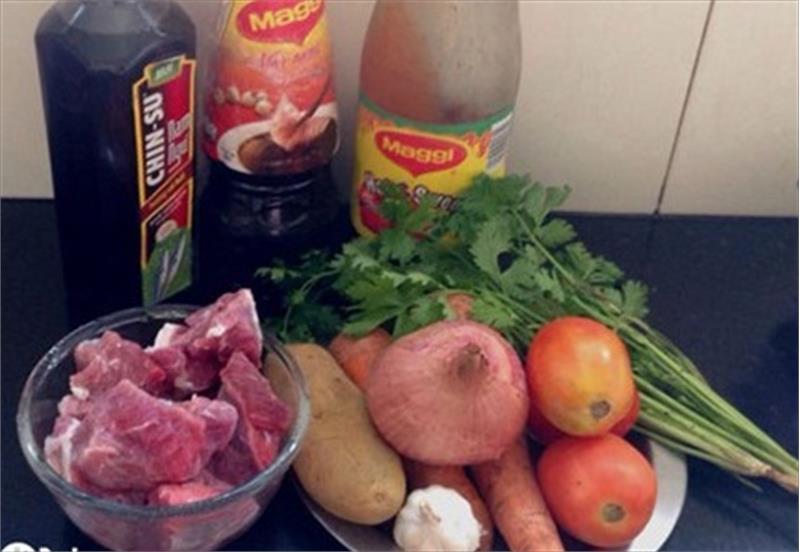 Nguyên liệu nấu món bò lagu ngon