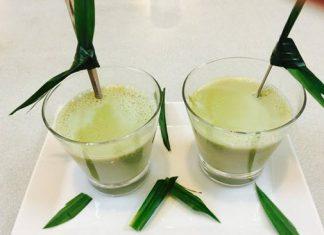 Pha sữa đậu nành xanh thơm lá dứa
