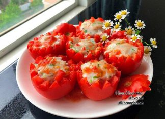 Hãy đổi món cho bữa cơm gia đình bạn trong những ngày hè nóng nực này bằng món cà chua nhồi cá thác lác hấp thơm ngon nhé!