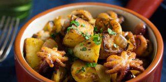 Bạch tuộc xào khoai tây