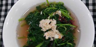 Canh rau dền nấu tôm