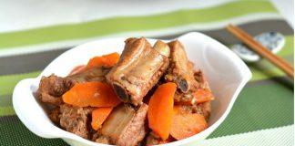 Hoàn thành sườn kho cà rốt
