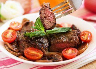 Thịt bò ướp lê áp chảo